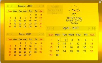 Click to view Kybtec Calendar Professional 1.2 screenshot