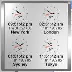 Click to view Kybtec World Clock Professional 5.2 screenshot